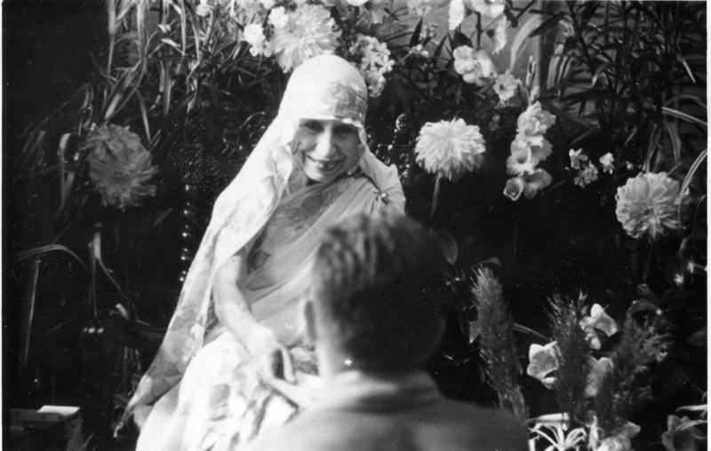 Beautiful pic of The Mother of Sri Aurobindo Ashram